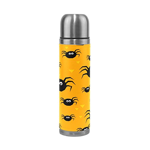 My Little Nest Happy Halloween Black Spiders Stainless Steel Vacuum Bottle Water Cup Mug Thermos Flask 500ML -