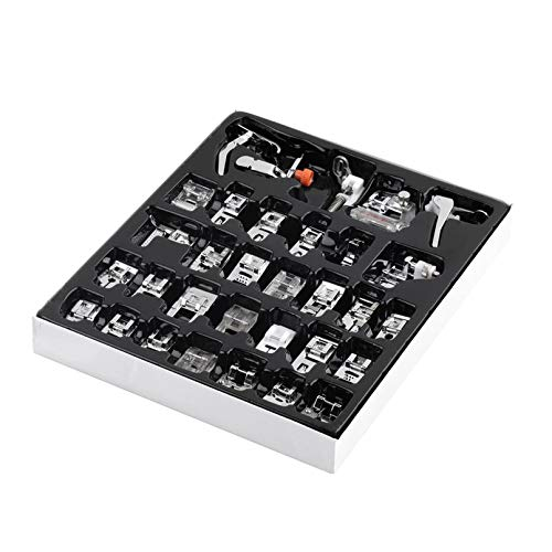 (anglexiyuan 32 Pcs Home Sewing Machine Feet Presser Good Domestic Sewing Machine Foot Feet Kits for Brother Singer Janome)