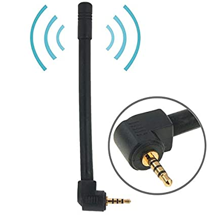Color : Black JINYANG Antenna 6dBi 2.5mm Stereo Mobile FM /& TV Antenna Length: 10.2cm Black