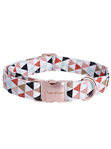 Picture of USP Pet Soft&Comfy Bowtie Dog Collar and Cat Collar Pet Gift for Dogs and Cats Adjustable Pure Cotton Collars 6 Sizes and 5 Patterns