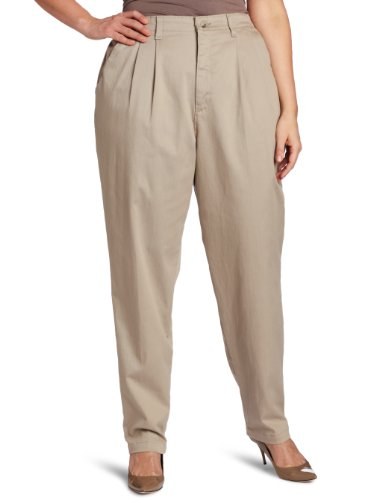 Lee Women's Plus-Size Relaxed Fit Side Elastic Pant, Taupe,