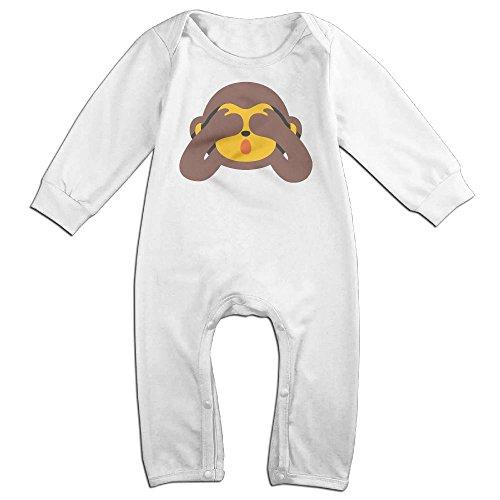 Infant Baby's Monkey Long Sleeve Climb Clothes 6 M White - Baby Monkey Costume Australia
