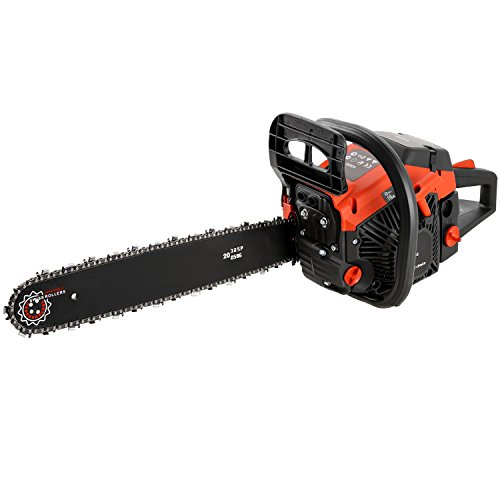 20-Inch 58cc Petrol ChainSaw - 3.4HP, 2-stroke Gas Powered Chainsaw with Tool Bag- Cutting Wood Chainsaw for Farm, Garden and Ranch(US STOCK) by Korie