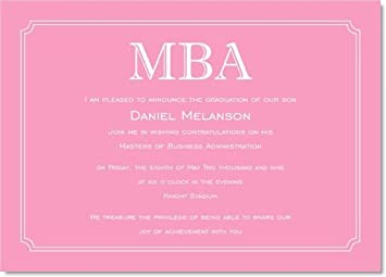 Amazon Simple Border Pink Graduation Invitations Health