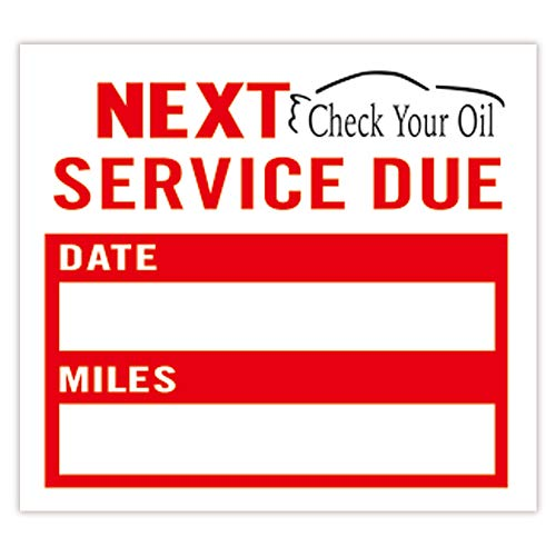Oil Change Stickers | Check Your Oil Service Reminder Stickers 2