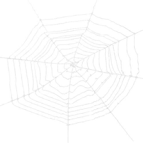 1Pcs Toile d'Araignée Blanche Géante Spider Web pour la Décorations Halloween Fournitures de Fête Blanc des Accessoires de Décorations d'intérieur Extérieures de Halloween 360cm -