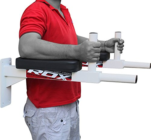 RDX Wall Mounted Dip Bar Abdominal Padded Dipping Station vertical knee Raise Bend AB Crossfit