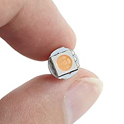 Partsam 10PCS T5 PC74 Wedge 1-5050-SMD LED Light Instrument Panel Indicators Lamps with Twist Lock Bulb Socket, Pink