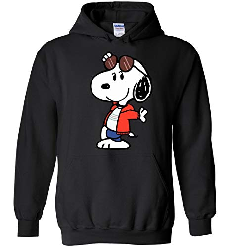 Joe Cool Hoodie Snoopy Black -