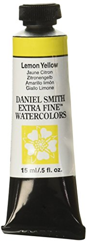 Daniel Smith Extra Fine Watercolor 15ml Paint Tube, Lemon Yellow by Daniel Smith