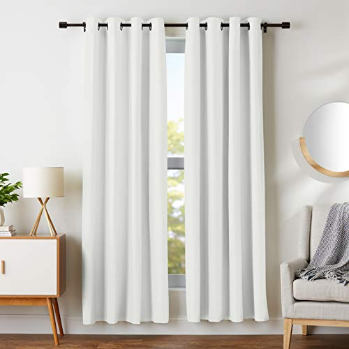 AmazonBasics Room Darkening Blackout Window Curtains with Grommets  - 52