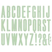We R Memory Keepers High Rise 4-Inch by 4-Inch Alphabet Die
