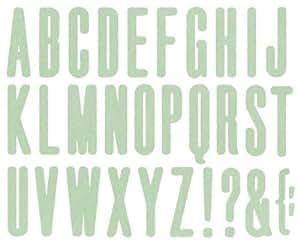 4 x 4 alfabetos 4 x 10,16 cm We R Memory Keepers alto diseño de alfabeto
