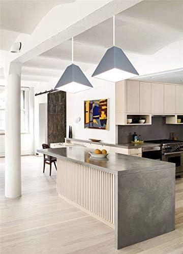 Shirley Home DIYLED Chandelier - Lámpara Colgante casera Minimalista Creativa Moderna del Restaurante de la huésped del Dormitorio del huésped Lámparas de araña Iluminación de Techo (Color : Gray): Amazon.es: Hogar