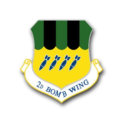 - MilitaryBest US Air Force 2nd Bomb Wing Decal Sticker 3.8