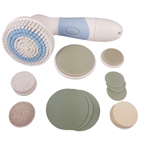 Spa 4 Collection Piece Home (Facial Cleansing Power Brush - Face & Body Skin Cleansing Brush - Natural Pumice Stone Premium Exfoliation To Remove Dead Skin - Dermabrasion Facial Brush - Beauty Products & Gift Sets)