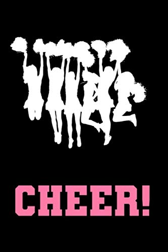 Cheer!: 6 x 9 inch lined journal - Black cover with cheering silhouette por DB Press