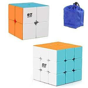 Qiyi Qidi S 2x2 Speed Cube Qiyi Warrior W 3x3 Magic Cube Puzzle Toys Stickerless