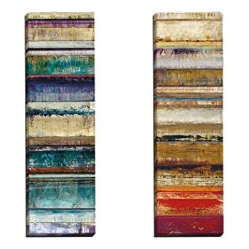 Portfolio Canvas Decor Crescendo I by Douglas Wall Art (Set of 2), 12 x 36""