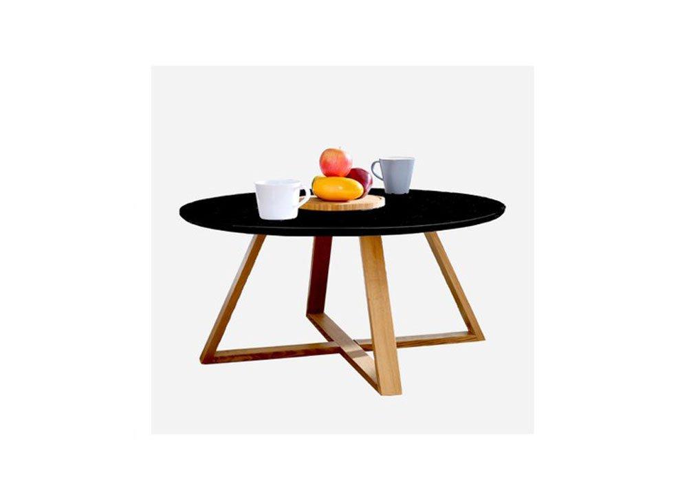 センターテーブル ウォールナット カフェテーブル 丸 直径80cm コーヒーテーブル アンティーク リビングテーブル 丸テーブル 白/黒 ダイニングテーブル 木製 ラウンドテーブル 丸テーブル 北欧 木 ダイニングテーブル 低め 木製 食卓テーブル B072C62K6V ブラック ブラック