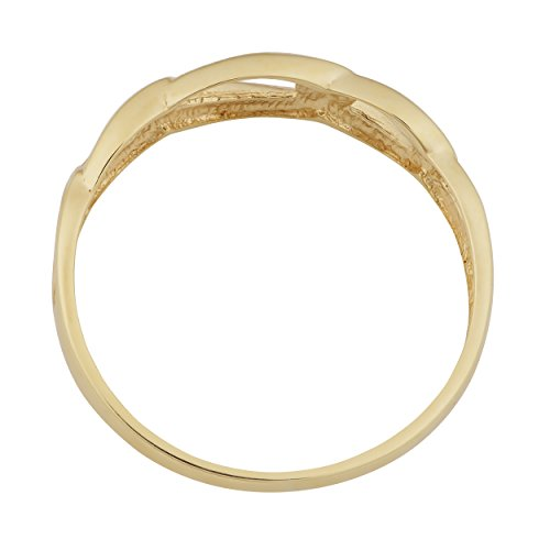 Fremada 10k yellow gold high polish figaro ring