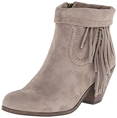 Amazon.com | Sam Edelman Women's Louie Fringe-Trimmed Ankle Boot ...
