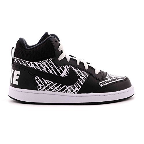 7c443df8c1d7 NIKE Boys  Court Borough Mid Print (GS) Basketball-Shoes
