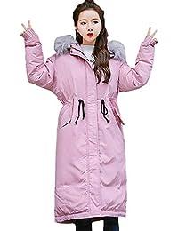 Limsea Women Coat Overcoat Solid Color Thicker Winter Slim Warm Lammy Jacket Hair Collar