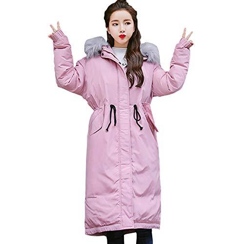 Slim Sale Hair Pink Winter Jacket JURTEE Fashion Hooded Coat Collar Warm Womens Ladies Overcoat Solid Coats Clearance Thicker Op5qz