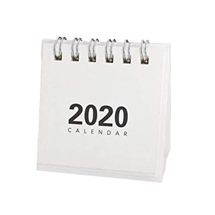 Calendario de mini mesa de año nuevo 2020 Creativo Simple Bobina ...