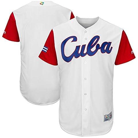 Men's 2017 World Baseball Classic Jerseys Cuba Team White S - 1973 Baseball