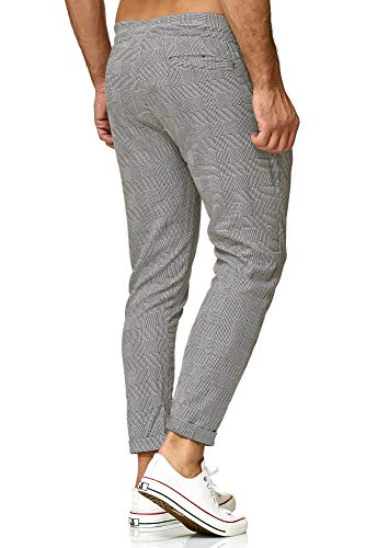 Chino Carreaux Gris Élastique Fit Hommes Gym M4231 À Casual Mode Quadrillé Rayé Pantalon Slim Redbridge zq5OARO