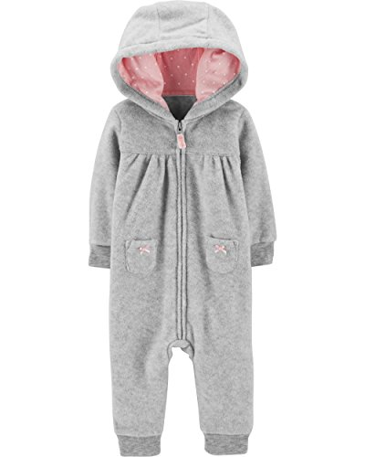 Carter's Baby Girls' One Piece Fleece Jumpsuit Koala, Newborn