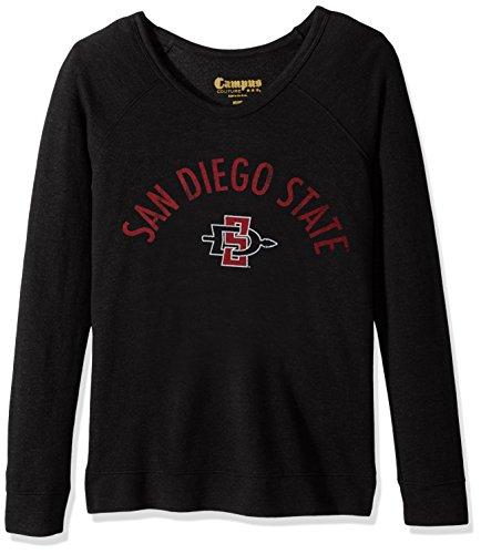 Original Retro Brand NCAA San Diego State Aztecs Women's Long Sleeve Quad Fleece Shirt, X-Large, ()