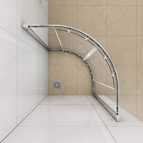 Ducha de 900 x 900 Walk In Cuadrante Enclosure Cubículo de puertas ...