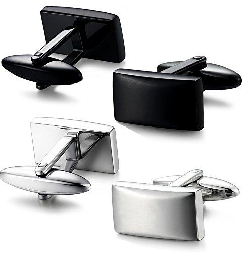 FIBO STEEL Stainless Business Cufflinks
