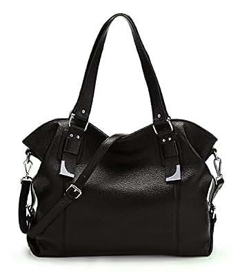 2fcd6984b36e BIG SALE-AINIMOER Womens Leather Shoulder Bag Vintage Handbags Large Tote  Top handle Purse Cross