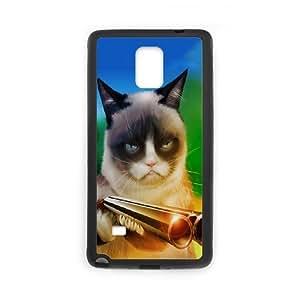 Lovely Grumpy Cat Cartoon Phone Case For Samsung Galaxy Note 4 EQ56630