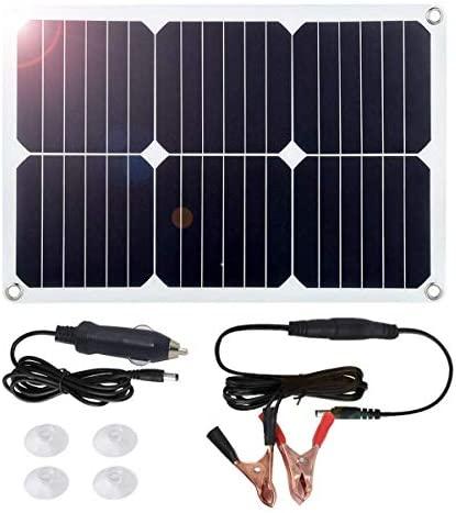 Amazon Com Megsun 18v 12v 18w Solar Car Power Battery Charger Portable Solar Panel Trickle Charger With Cigarette Lighter Plug Suction Cups Maintainer For Automobile Motorcycle Boat Garden Outdoor