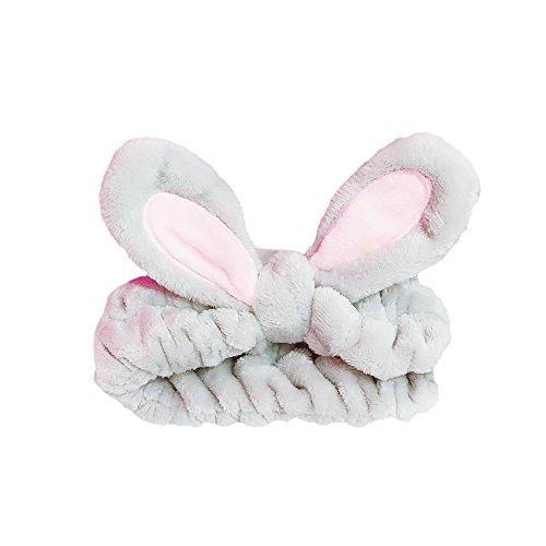 Bowknot Rabbit (BAOBAO Cute Cartoon Rabbit Ear Headband Wired Bowknot Hair Band Head Wraps)
