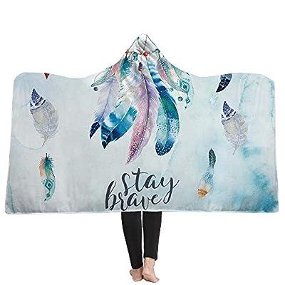 YJZ Dream Catcher Hooded Blanket Fleece Blankets 3D Art Soft Sherpa Cozy Bathrobes Cloak Bath Towel for Adult Kids