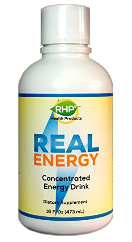 RHP Natural Energy Drink Concentrate - Real Physical Energy Boost (No Crash After 5 Hours, No Letdown or Jitters). 32 Servings