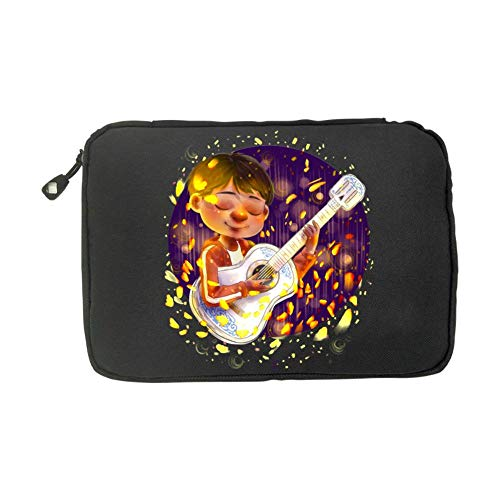 Coco Guitar Pattern Halloween Costumes Fashion 3D Printing Electronics Accessories Organizer Bag,Portable Tech Gear Phone Accessories Storage Carrying Travel Case Bag, Earphone Cable Organizer -