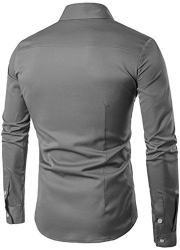 WHATLEES Mens Long Sleeve Extra Long Design Dress Shirt