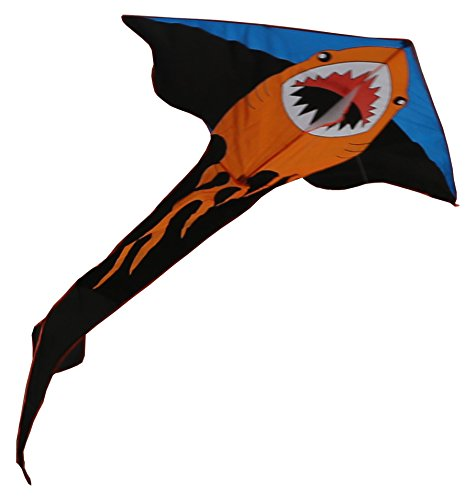 RoarSoar Uttarayan Child or Adult Easy To Fly Fire Shark Kite, 118