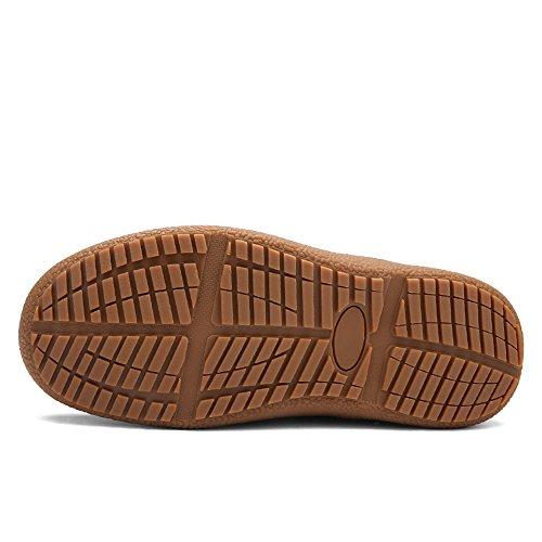 Femmes Hommes Bottes De Neige Entièrement Doublé De Fourrure Antidérapante Imperméable À Leau Cheville Hiver Chaud Chaussures De Plein Air Chaussures Kaki