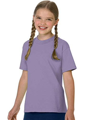 Hanes Authentic Tagless Kid`s Cotton T-Shirt Lavender ()