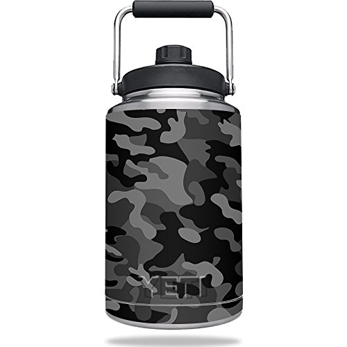 Skin for YETI Rambler One Gallon Jug - Black Camo | MightySkins Protective, Durable, and Unique Vinyl Decal wrap cover | Easy To Apply, Remove, and Change Styles | Made in the USA