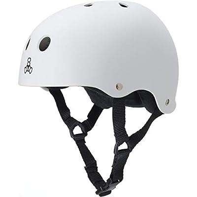 Triple Eight Sweatsaver Liner Skateboarding Helmet, White Rubber, Small : Skate And Skateboarding Helmets : Sports & Outdoors