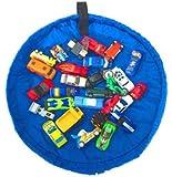 めちゃ×2売れてる おもちゃ 収納 マット 一石二鳥 便利グッズ T34-04 (ミニサイズ, ブルー)